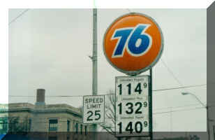 76 gas station sign