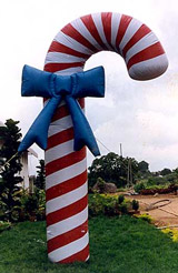 10' - 25' candy cane heliuminflatable