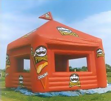 giant pringles inflatable tent